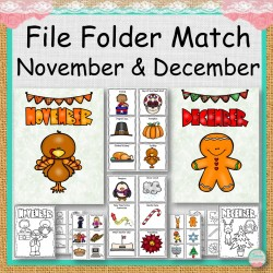 File Folder Match November and December
