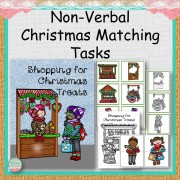 Nonverbal Shopping for Christmas Treats Matching Tasks