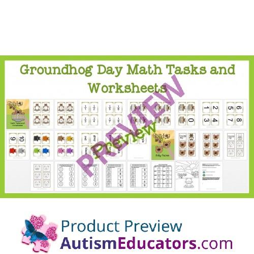 Groundhog day math worksheets free