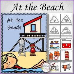 FREE At the Beach File Folder Match