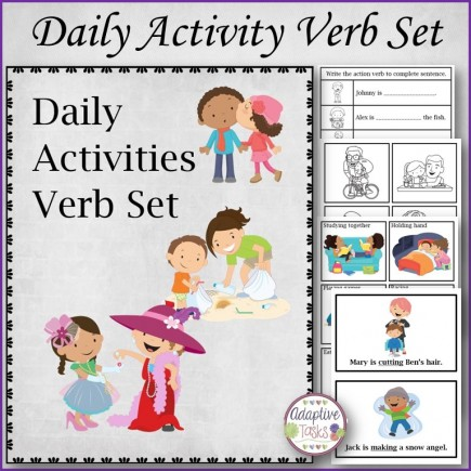 Daily Activities Verb Set