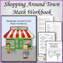 Shopping Around Town Math Workbook