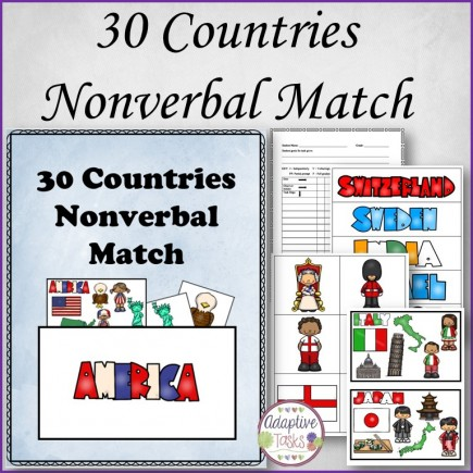 30 Countries Nonverbal Match