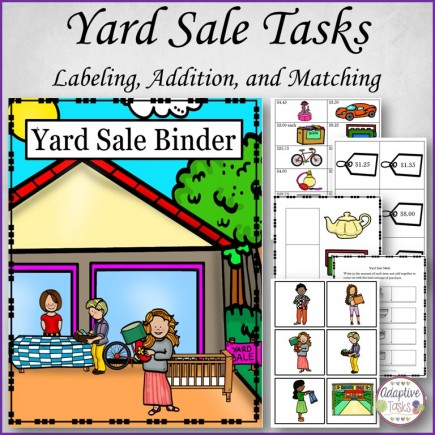 Yard Sale Tasks Labeling, Addition and Matching