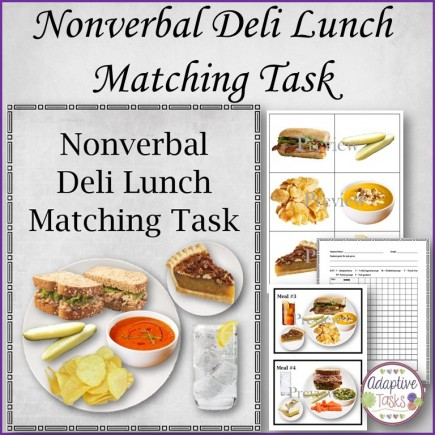 Nonverbal Deli Lunch Matching Task
