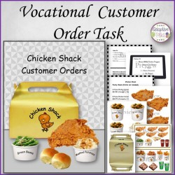 Vocational Customer Order Task - Verbal and Nonverbal Version (Adaptive Tasks)
