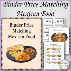 Binder Price Matching Task-Mexican Meals