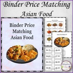 Binder Price Matching Task-Asian Meals