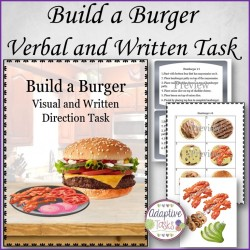 Build a Burger Written and Visual Task
