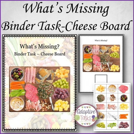 What is Missing? Binder Task-Cheese Board
