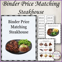 Binder Price Matching Task-Steakhouse