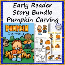 Early Reader Carving Pumpkins