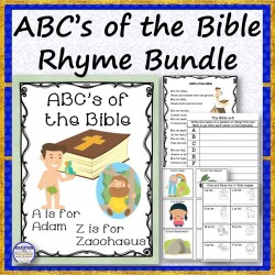 ABC's of the Bible Rhyme Bundle
