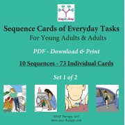10 Sequences of Everyday Activities for Young Adults & Adults (Set 1 of 3)