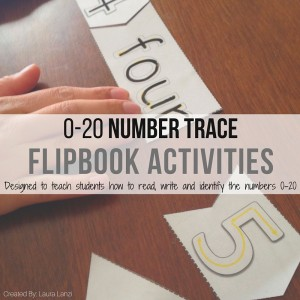 Numbers Up To 20 Tracing and Identification Flipbook
