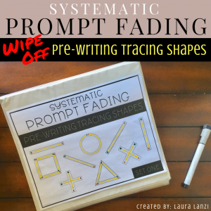 Systematic Prompt Fading: Pre-Writing Tracing Shapes