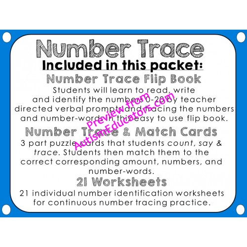 Up To 20 Tracing and Identification Flipbook