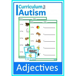 Adjectives Clip Cards and Worksheets