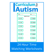 24 Hour Time Matching Worksheets, NO PREP