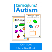 3D Shapes Interactive Adapted Book