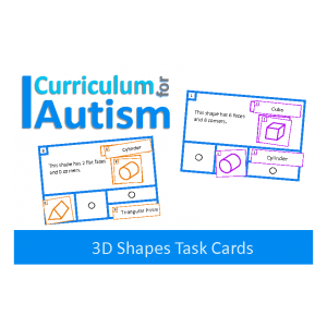 Read & Match 3D Shape Task Cards