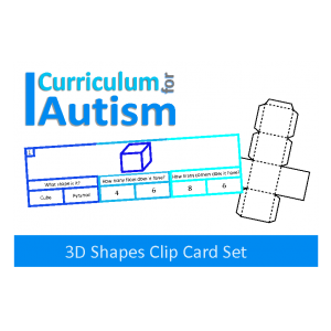 3D Shapes Clip Cards with Nets of Shapes