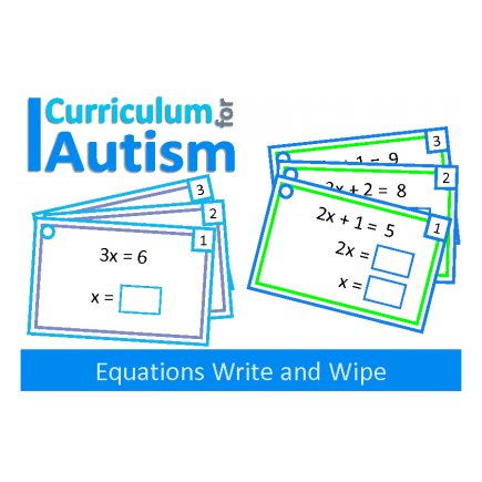 One Step Two Step Equations With Scaffolding write & wipe cards