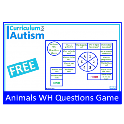 WH Questions Animal Facts FREE Spinner Game