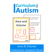 Area & Volume Interactive Adapted Math Book