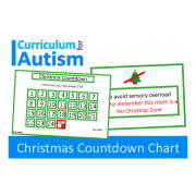 Christmas Countdown Chart & Sensory Overload Poster, FREE