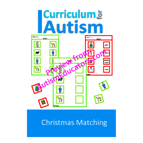 Christmas Matching, Nativity & Decorations Worksheets and File Folders