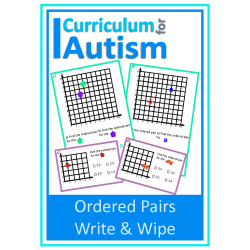 Coordinates Ordered Pairs Write & Wipe Task Cards