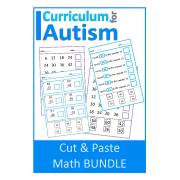Cut & Paste Math BUNDLE: Rounding, Skip Counting, Double Digits