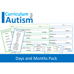 Days of the Week, Months of the Year, Lifeskills Pack