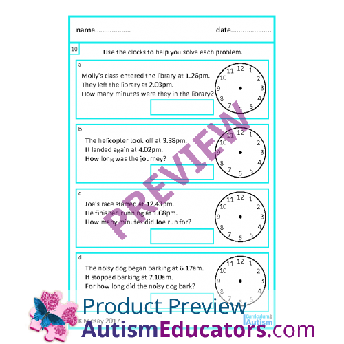 Skill, Elapsed Time Word Problems worksheets