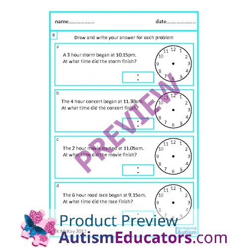 Skill Elapsed Time Word Problems worksheets – Time Word Problems Worksheets