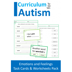 Emotions and Feelings - Clip Cards, Writing Prompts and Worksheets