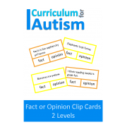 Fact or Opinion Clip Cards (2 levels)