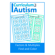 Factors & Multiples Find and Color Worksheets