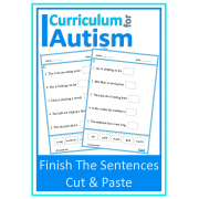 Finish The Sentence Cut & Paste Worksheets