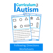 Following Directions No Prep Worksheets to Color