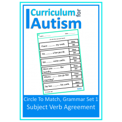 Subject Verb Agreement, Grammar Worksheets