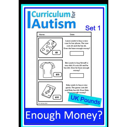 enough money budgeting autism life skills worksheets uk pounds. Black Bedroom Furniture Sets. Home Design Ideas