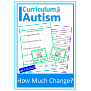 Money Skills Calculating Change Worksheets & Clip Cards Set -UK Version