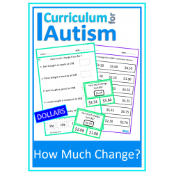 Money Skills Calculating Change Worksheets & Clip Cards
