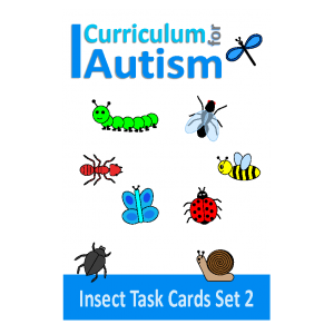 Insects Count, Sequence, Add, Subtract, Large Write and Wipe Cards Set 2