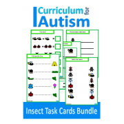 Insects Match, Count, Sequence,  Write and Wipe BUNDLE