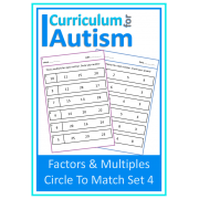 Factors & Multiples Circle to Match Worksheets
