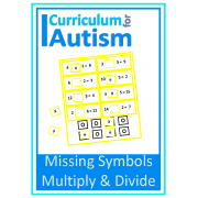 Missing Symbols, Multiply & Divide task boards