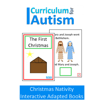 Christmas Nativity Interactive Adapted Book, 2 levels